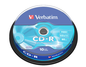 VERBATIM CD-R 700MB 52X EXTRA PROTECTION 10szt