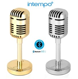 Intempo Portable Microphone Bluetooth Speaker Silv